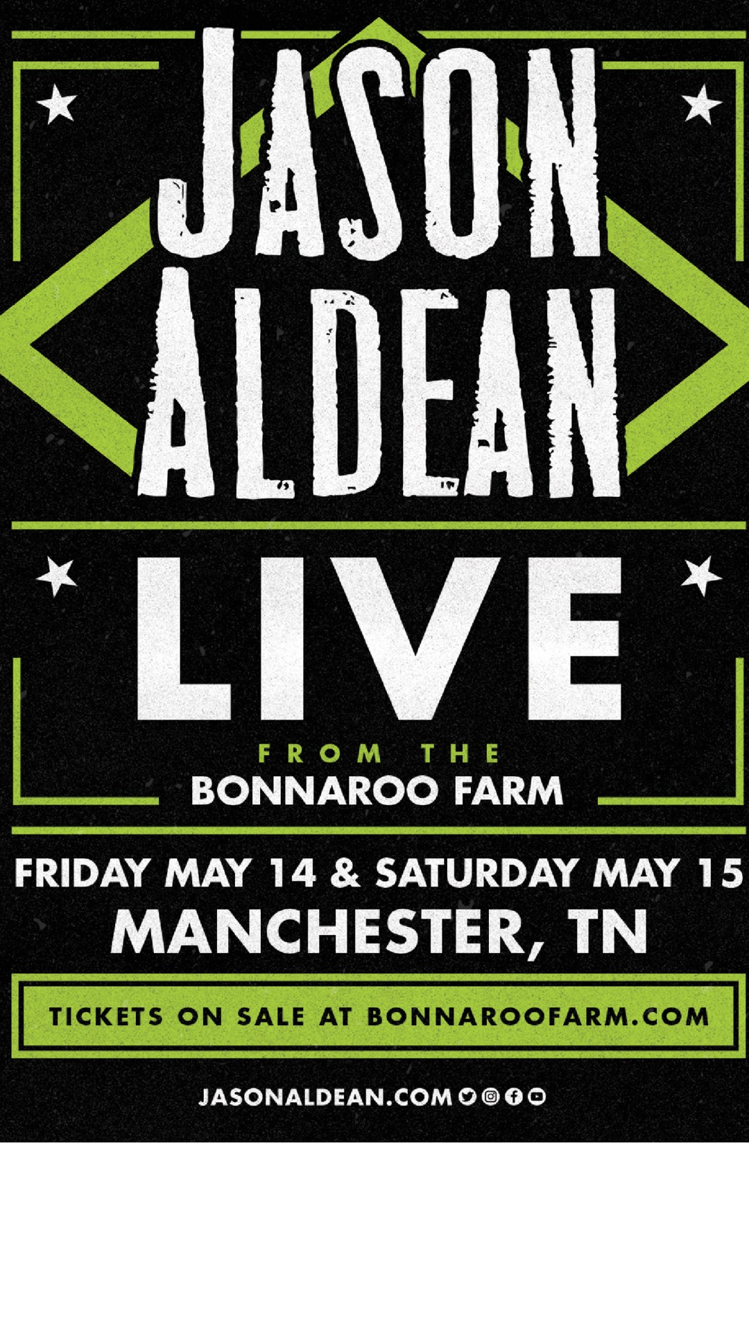 May 14 & 15, Jason Aldean From Bonnaroo Farm