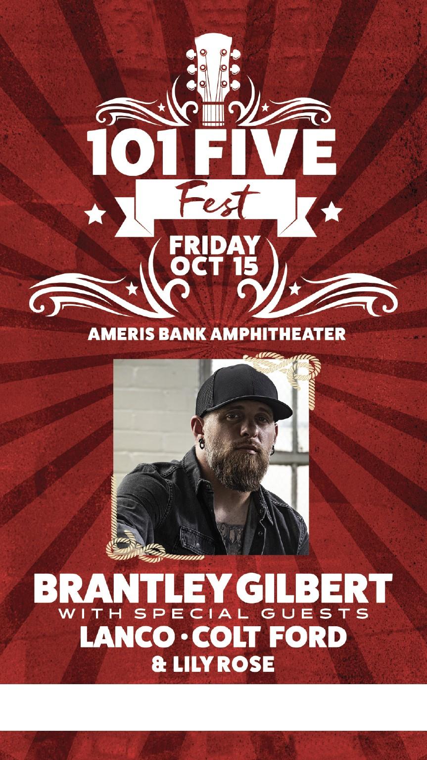 Oct. 15th, Brantley Gilbert/Lanco @ Ameris Bank