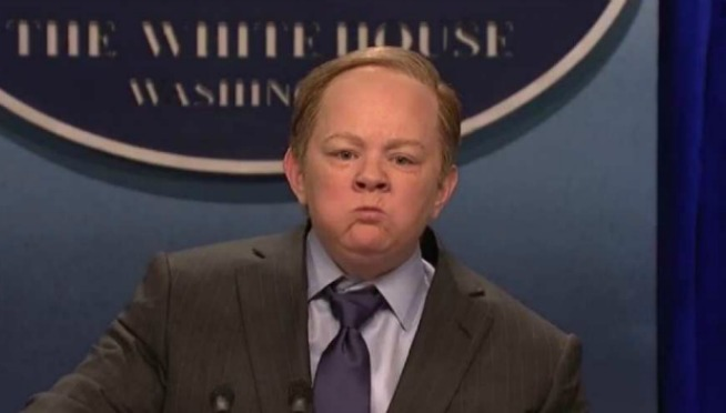 White House Press Secretary Sean Spicer is not happy with 'SNL'