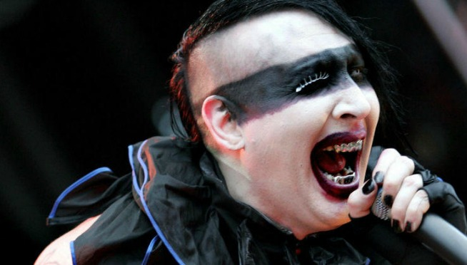 VIDEO:  Stage Prop Collapses On Marilyn Manson; Singer Hospitalized