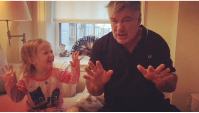 Alec Baldwin's 3-year-old daughter doing her impression of him doing Trump = Hilarious