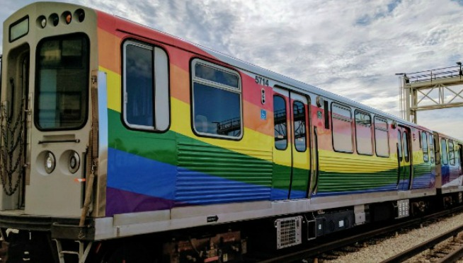 The CTA Is Running A Rainbow Train For Pride Weekend & It Looks Amazing