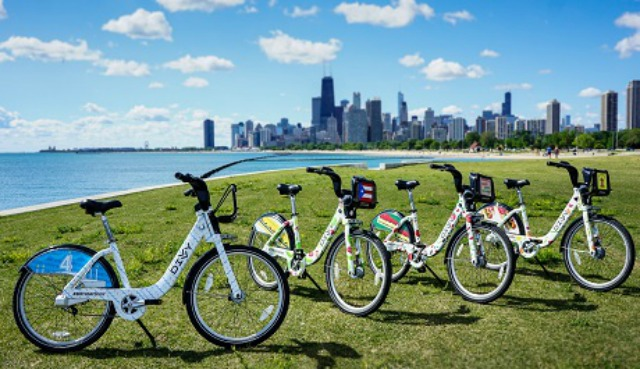 RIDE A HOT DOG!? Chicago DIVVY Bikes roll out with food themes