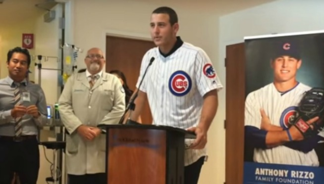 WATCH: Teary-eyed Anthony Rizzo donates $3.5M to Lurie Children's hospital