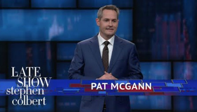 Chicago comedian Pat McGann jokes about lying to his kids on 'Colbert