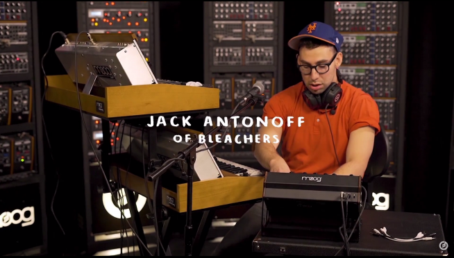 WATCH:  Jack Antonoff of Bleachers Playing Around with Moog Synths