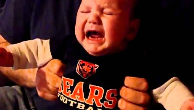 Watch Eric moan in pain as the Bears lose