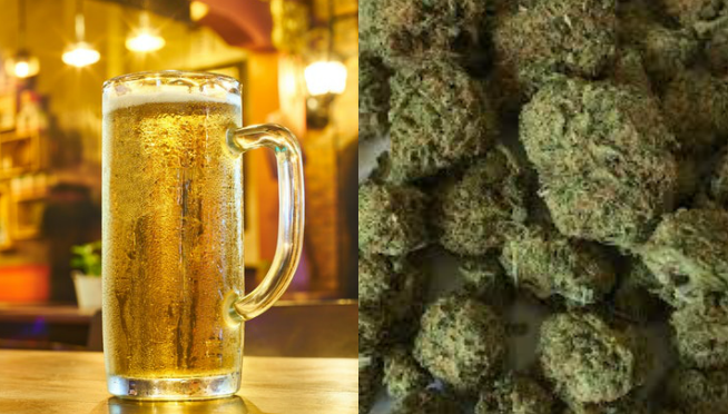 Top craft brewer says legal pot has — mellowed beer consumption.