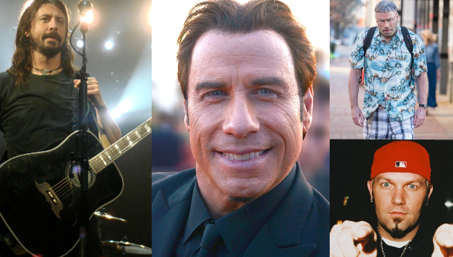 Is that…John Travolta on stage with Foo Fighters?