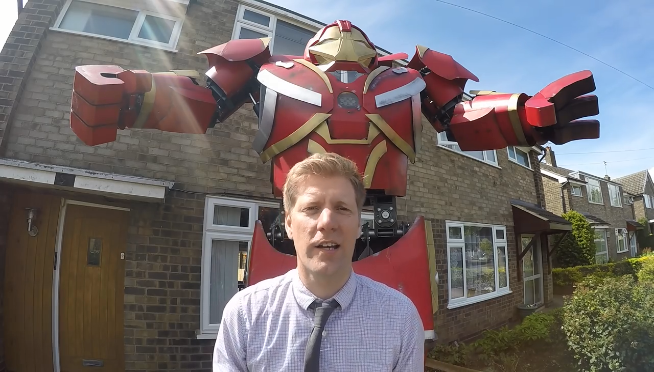 Watch YouTube mad scientist play with his homemade Hulkbuster