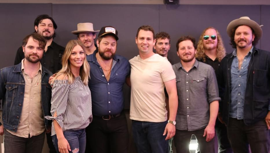Nathaniel Rateliff And The Night Sweats in studio