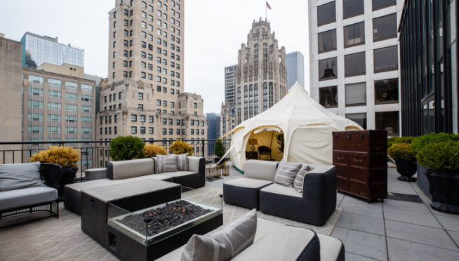 "Now you can go ""glamping"" — in downtown Chicago."