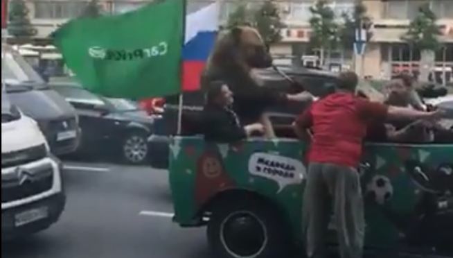 Why is PIQNIQ Bear in Moscow?