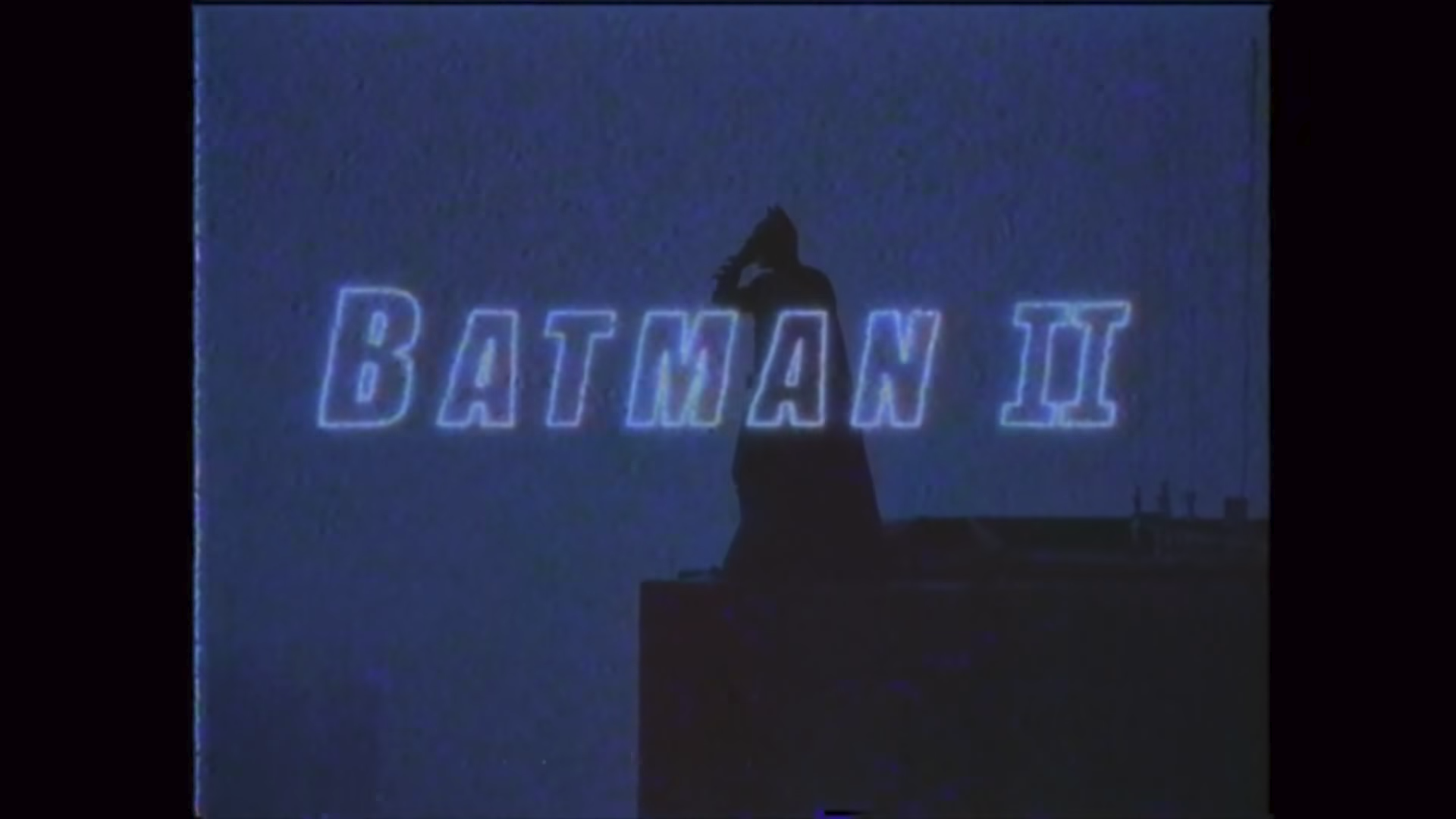 """The Dark Knight,"" except it's a 1985 movie trailer."