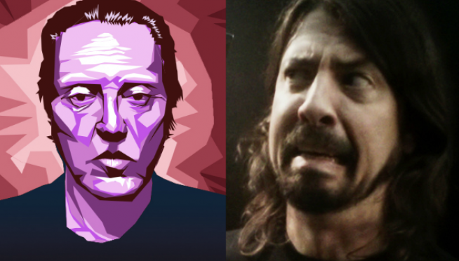 Dave Grohl does a hell of a Christopher Walken impression.