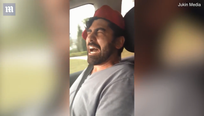 Dad perfectly mimics his three year old son's temper tantrum