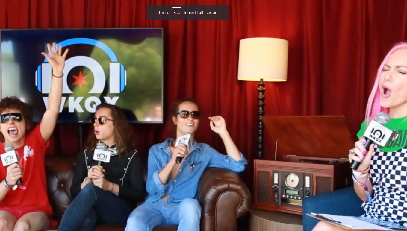 Lollapalooza: Greta Van Fleet rocks backstage (backstage interview with Lauren)