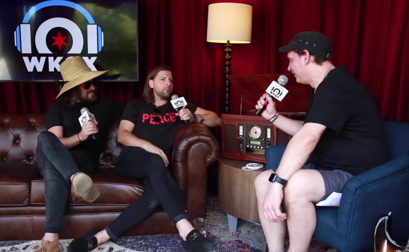 Lollapalooza: Welshly Arms' long history with 101 WKQX (backstage interview with wALT)