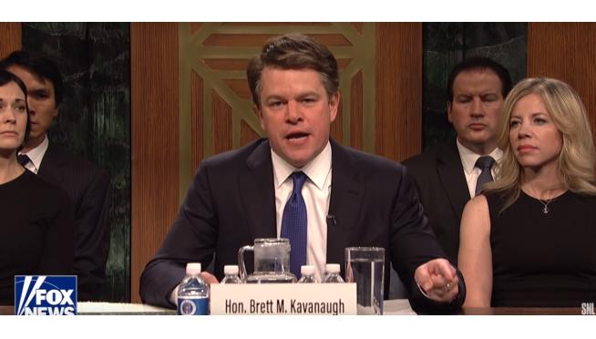 Matt Damon Killing it as Brett Kavanaugh On 'SNL' Season Premiere.