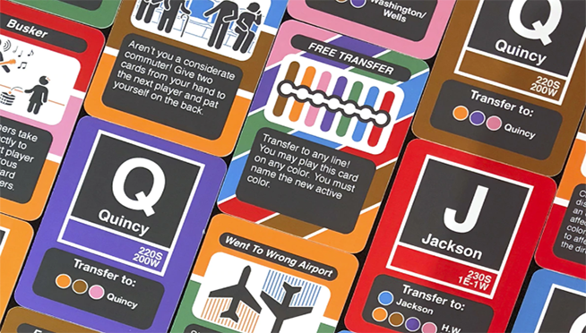 "The CTA ""L"" now has it's own card game."