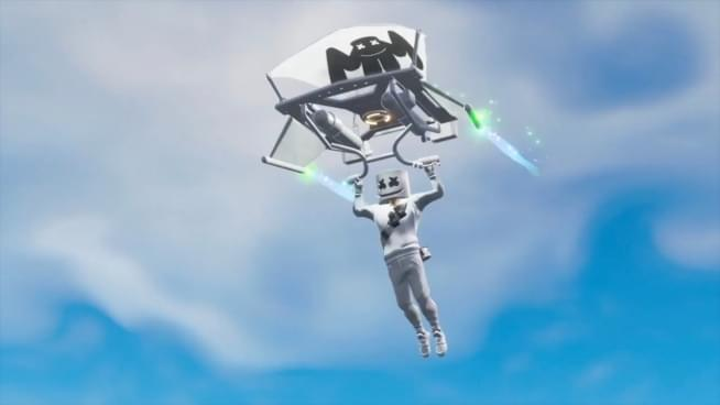 Watch Brendon Urie watch Marshmellow perform inside Fortnite