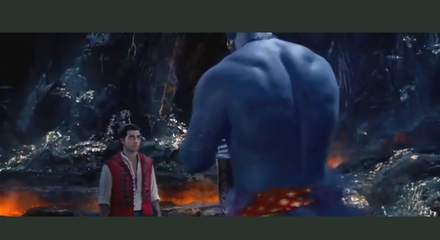 New Aladdin trailer has Will Smith looking a little blue.