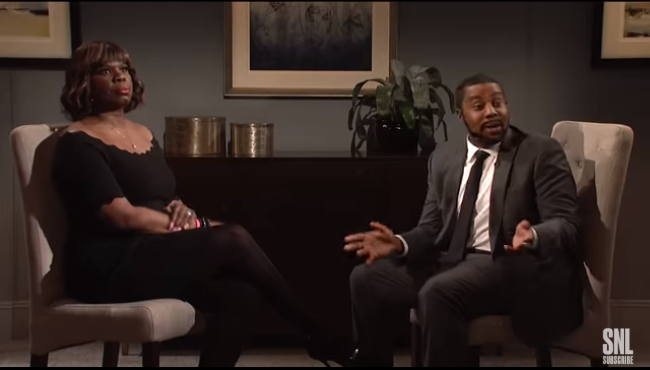 R. Kelly interview with Gayle King, SNL style