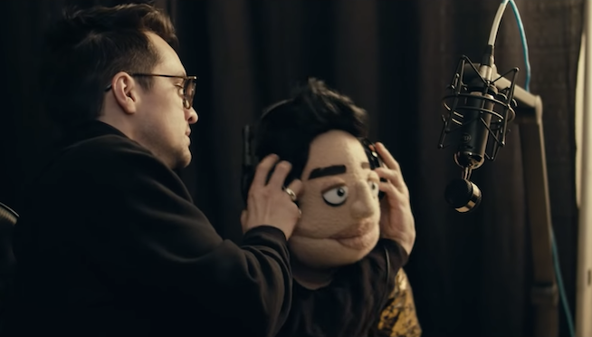 """Brendon Urie and """"The Amazing Beebo"""" star in the new Panic! At The Disco music video"""
