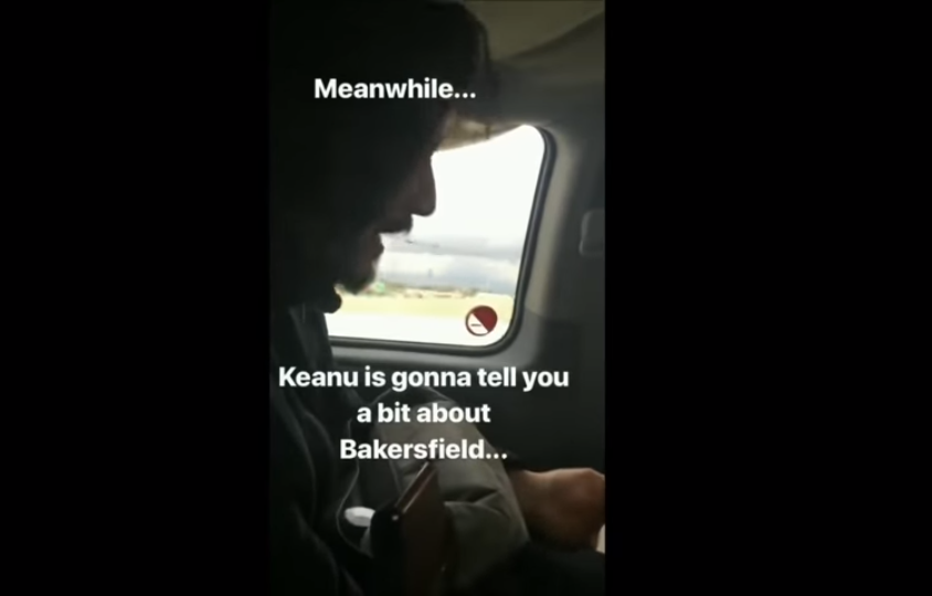 Keanu Reeves road trips with a bunch of plane passengers after flight makes emergency landing