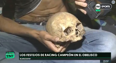Soccer fan digs up grandfather's skull to celebrate title win