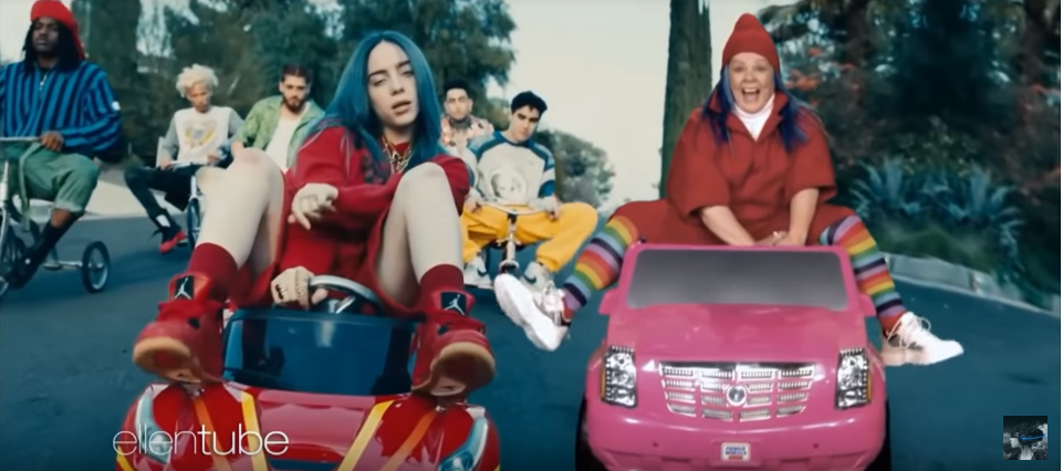 Ever notice Melissa McCarthy in the 'Bad Guy' music video?
