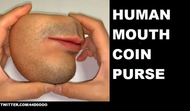 """You can not unsee the """"Human Skin Coin Purse"""""""