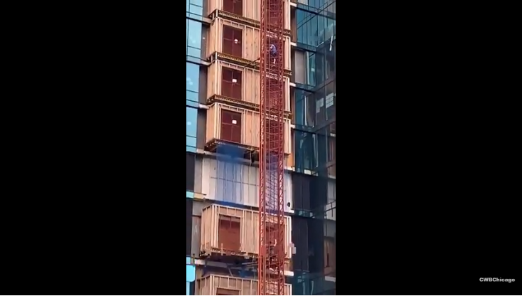 Two men decided to scale the side of Chicago's Vista Tower