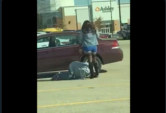 Here's a sight: BDSM in a grocery store parking lot