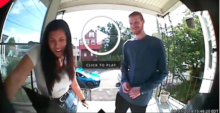 Dad 'meets' his daughter's date via doorbell
