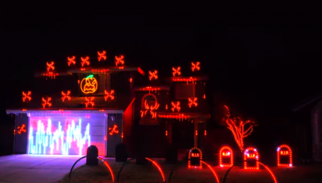 This Halloween light show with System Of A Down is 🔥🎃