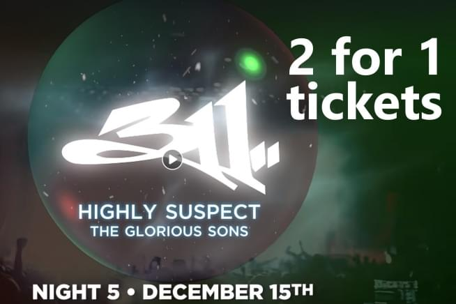 Get 'em Now! TNWSC 2 for 1 Tickets for 311,Highly Suspect, & Glorious Sons