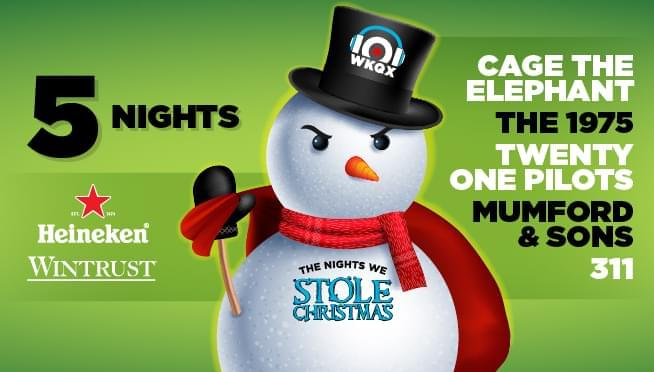 Stream our Nights We Stole Christmas playlist on Spotify & Youtube