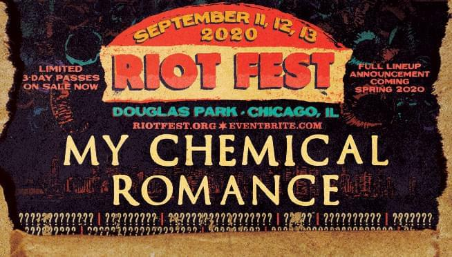 Watch My Chemical Romance's easter egg filled Riot Fest announcement