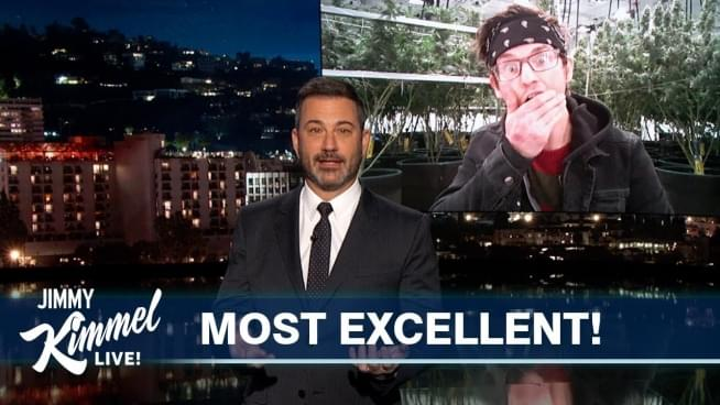Most Excellent! Jimmy Kimmel interviews dispensary dude from Michigan