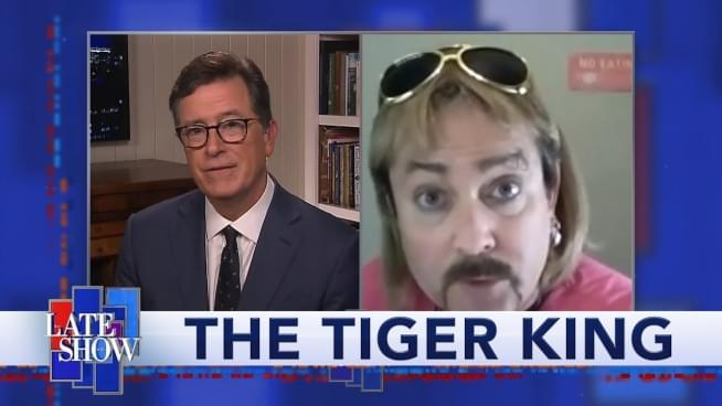 'Joe Exotic' is ridiculous on 'Late Show'