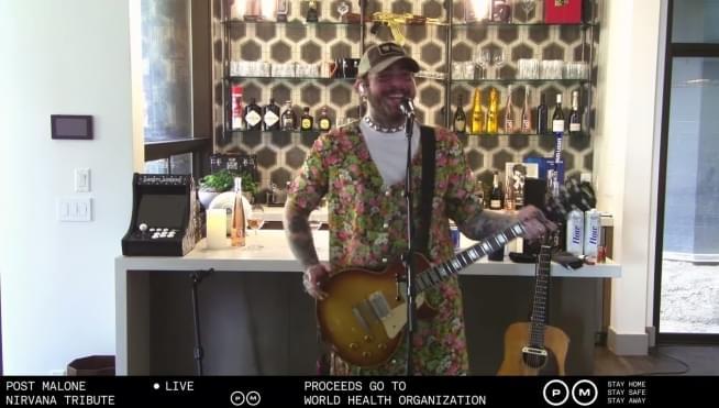 Post Malone's Nirvana tribute livestream
