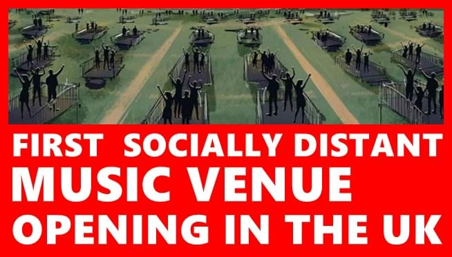 First socially distant music venue opening in the UK