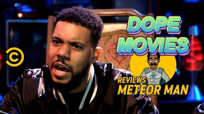 Comedian Clayton English's highlarious recap of 'Meteor Man'