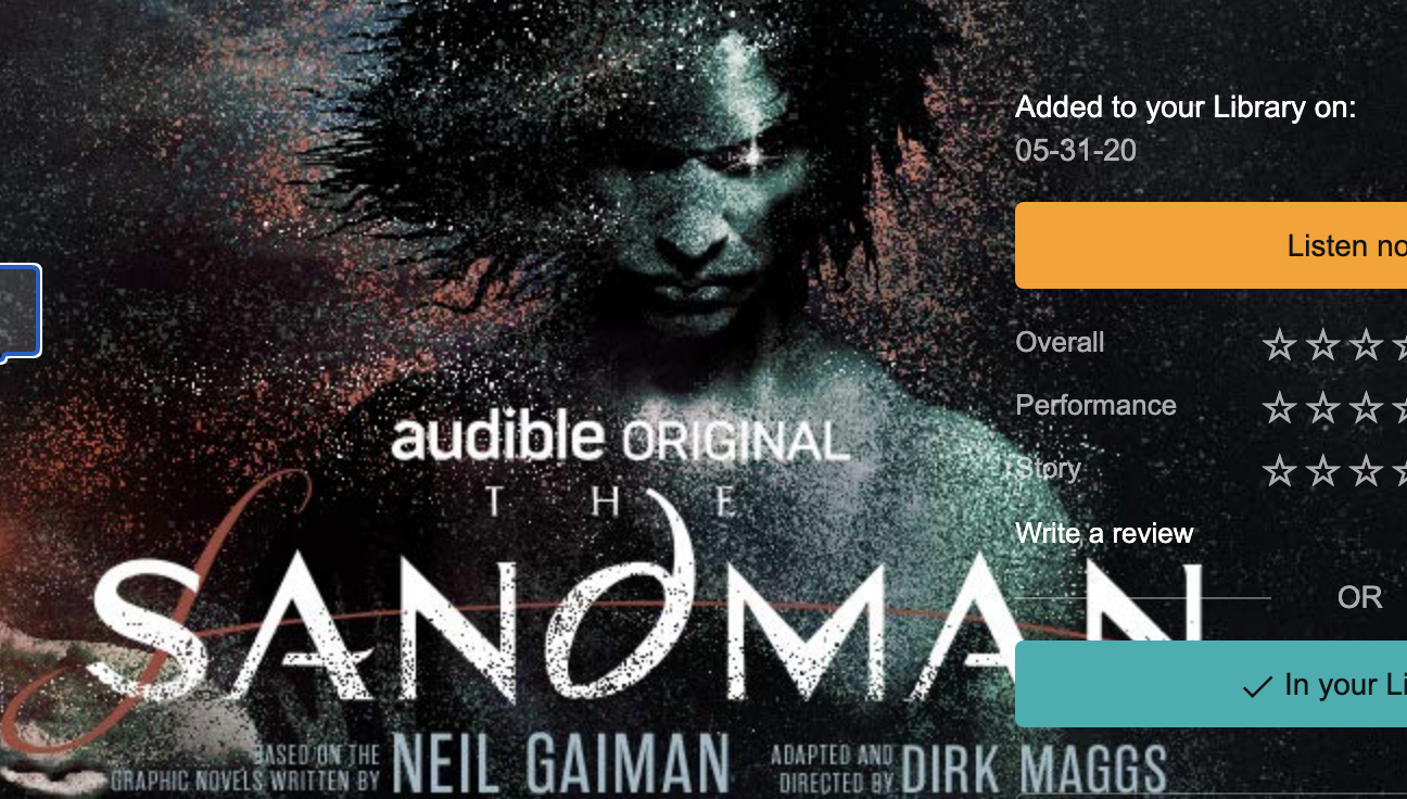 'The Sandman' on Audible is the perfect distraction from… all of this
