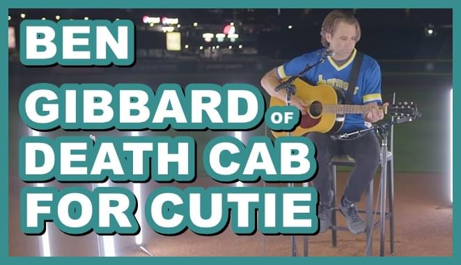 Ben Gibbard covers 'Centerfield' on Mariner's field