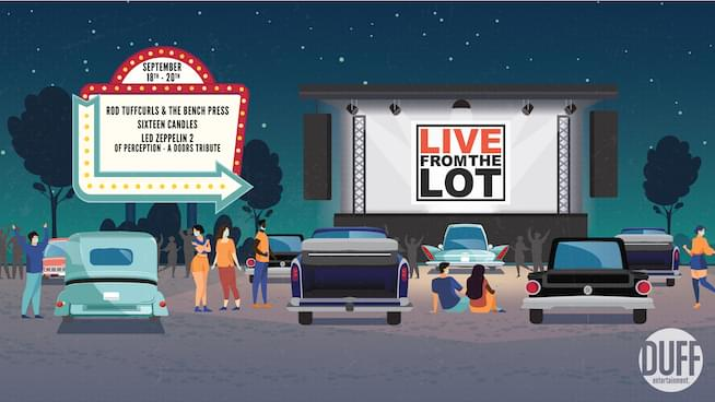 Live from the Lot returns in September! (September 18-September 20)