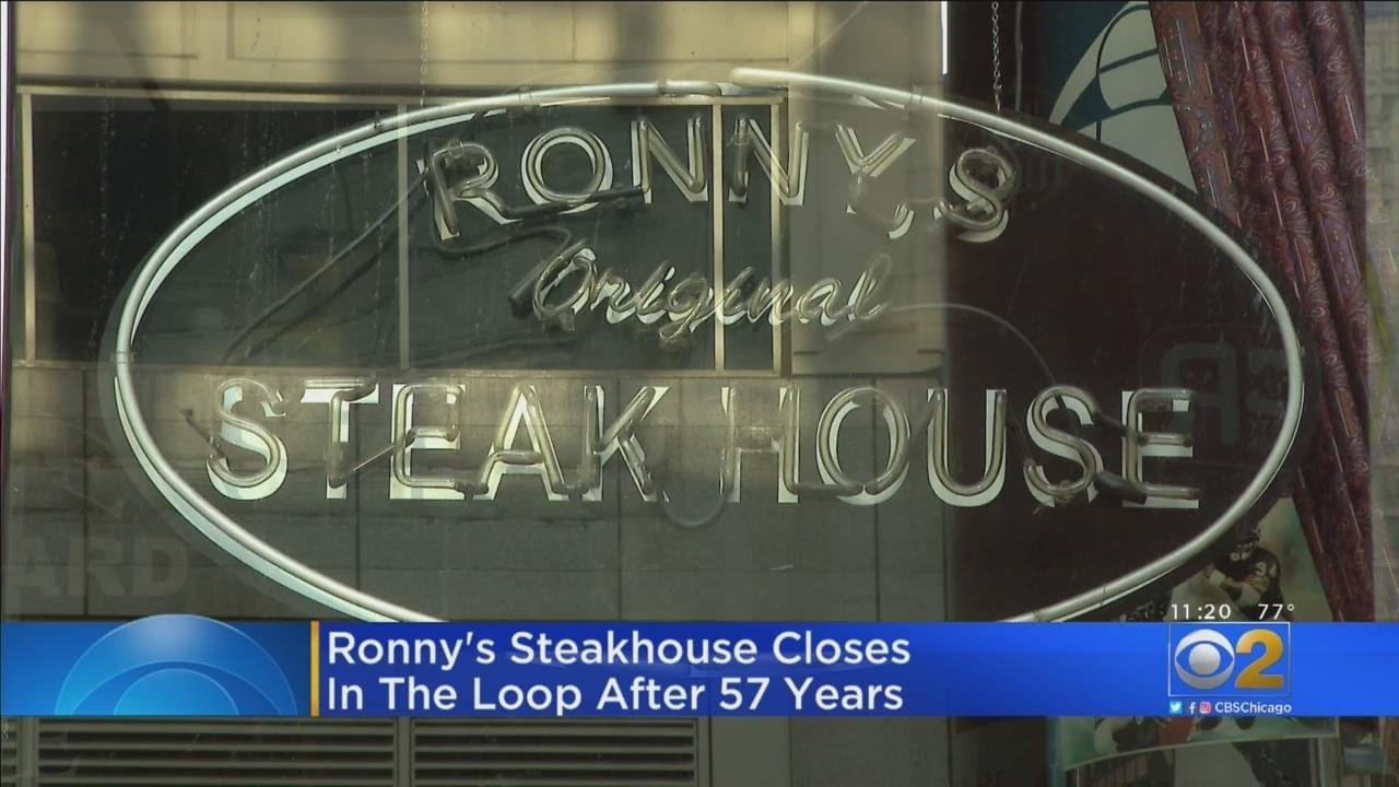 Ronny's Steakhouse is closing