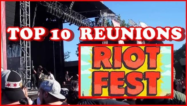 Top 10 Riot Fest reunions
