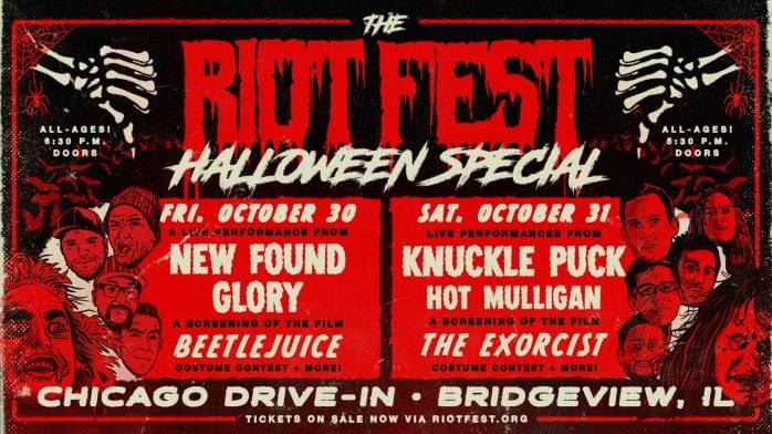10/30/20-10/31/20 – Riot Fest Halloween Special Featuring New Found Glory